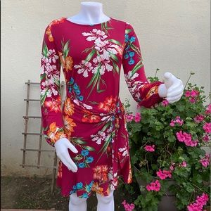 New York Synthetic ECI for Women Dress Printed
